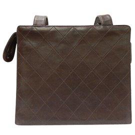 Chanel-Chanel Vintage Schultertasche-Braun