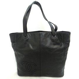 Chanel-Chanel Vintage Sac à bandoulière-Noir