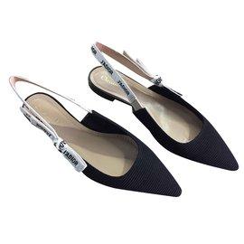 Dior-j'adior ballerines-Noir