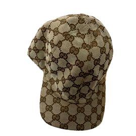 Gucci-Casquette d'écharpe-Beige
