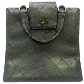 Chanel-Sac à main Chanel Vintage-Marron