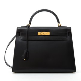 Hermès-KELLY II SELLIER 32 BLACK-Noir ... 11ba1399a2b
