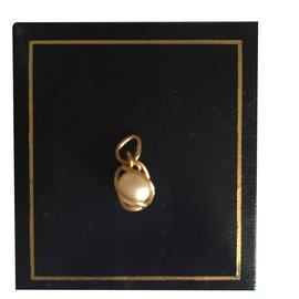 Autre Marque-Pendentif en or jaune 18 carats et perle de culture-Doré