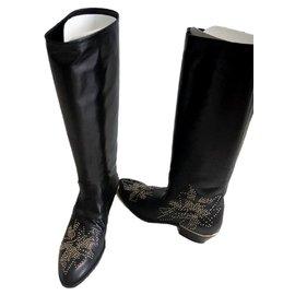 Chloé-Chloe Black Susanna boots EU 38.5-Black