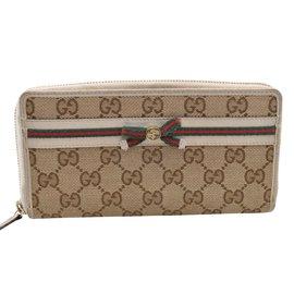 Gucci-Gucci long portefeuille-Écru
