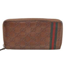 Gucci-Gucci long portefeuille-Marron