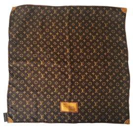 Louis Vuitton-Foulards de soie-Marron