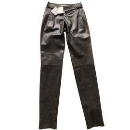 Céline-Pants, leggings-Dark brown