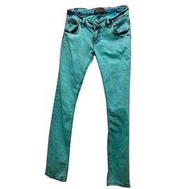Dsquared2-Dsquared2 jean délavé acide-Bleu,Turquoise