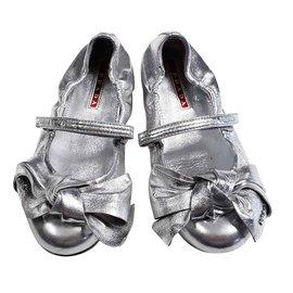 Prada-Ballet flats-Silvery