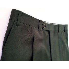 Canali-Pantalons-Vert foncé