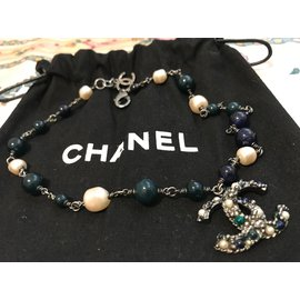 Chanel-Necklaces-Blue,Green,Metallic