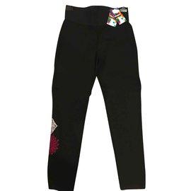 Desigual-Pantalons, leggings-Noir