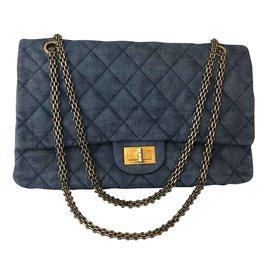 Chanel-Reissue 2.55-Blue