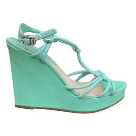 Céline-Sandales-Turquoise
