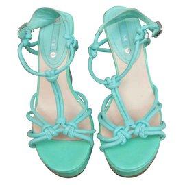 Céline-Sandals-Turquoise