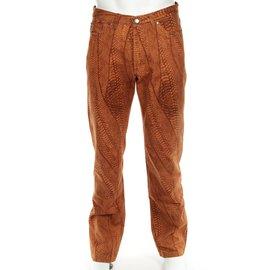 Gianfranco Ferré-taille 44 cm, longueur de la jambe extérieure 114 cm.-Orange