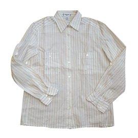 Céline-Chemise vintage en coton-Blanc