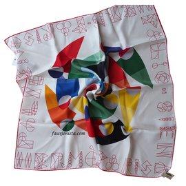 Hermès-TN-O. Hermes 70cm Palio di Siena-Multicolore