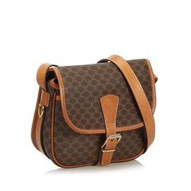 Céline-Macadam Crossbody Bag-Brown