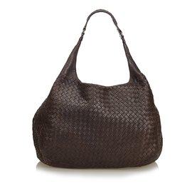 227680724a5 Bottega Veneta-Intrecciato Campana Hobo Bag-Brown,Dark brown ...
