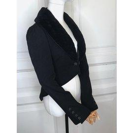 Chanel-manteau / veste-Noir