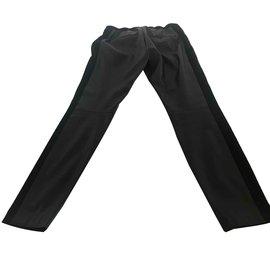 Hugo Boss-Leather trousers-Black