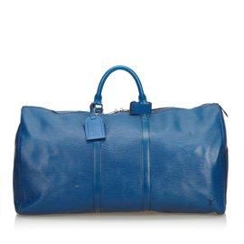Louis Vuitton-Epi Keepall 55-Bleu