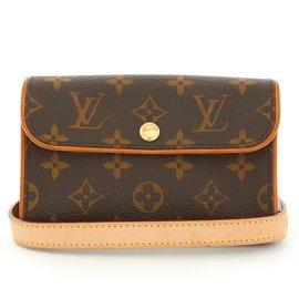 Louis Vuitton-BELT CLUTCH MONOGRAM-Marron