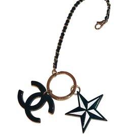 Chanel-Chanel keychain bag charm-Black,Silvery