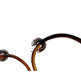 Balenciaga-Boucles d'oreilles-Marron