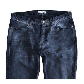 Acne-Pantalons-Gris