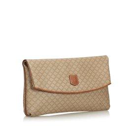 Céline-Macadam Clutch Bag-Brown,Beige