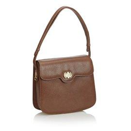 Gucci-Vieux sac à main en cuir Gucci-Marron
