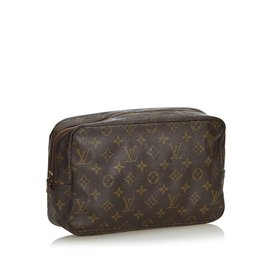 Louis Vuitton-Toilette Monogram Trousse 28-Marron