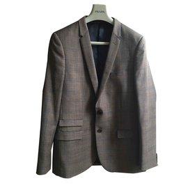 Autre Marque-Très beau costume IZAC 2 pièces, cintré, laine-Caramel