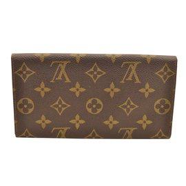 Louis Vuitton-Louis Vuitton Porte Cartes-Marron