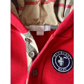 Burberry-One piece Jacket-Red