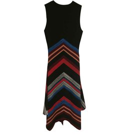 Proenza Schouler-Beautiful assymetrical dress in wool and silk-Black,Red,Multiple colors