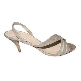 Hermès-Sandals-Golden