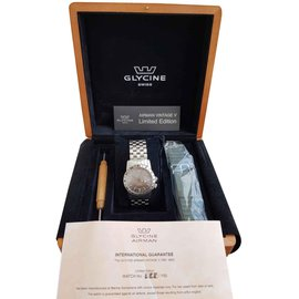 Autre Marque-GLYCINE AIRMAN VINTAGE V LIMITED-Silvery