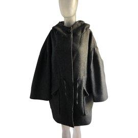 Isabel Marant Etoile-Manteaux, Vêtements d'extérieur-Gris anthracite