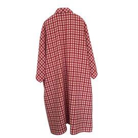 Balenciaga-Cristobal panel coat-White,Red