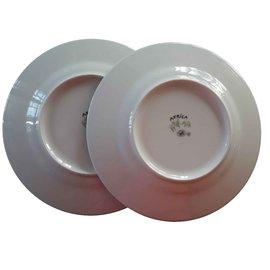 Hermès-2 Dessert plates Hermès-White