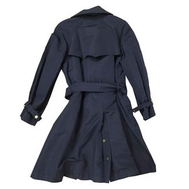 Chanel-Trench coats-Navy blue