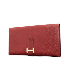 Hermès-Hermès Bearn Classic-Rouge