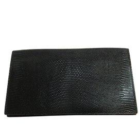 Hermès-Portefeuille en cuir classique Hermès-Noir