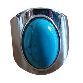 Autre Marque-Bague Agatha-Argenté,Bleu