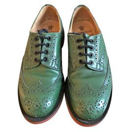 Trickers-TRICKERS MEN'S LACE UP DERBY SHOES-Green