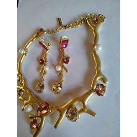 Oscar de la Renta-Ensembles de bijoux-Rose
